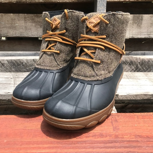 4cda0f3cd3cf Sperry Saltwater Wedge Tide Wool Boots